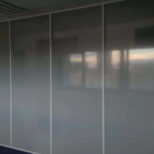 Projet LE VIP R+9 / LYON 3 : Films Degressifs sur cloison vitrée toute hauteur