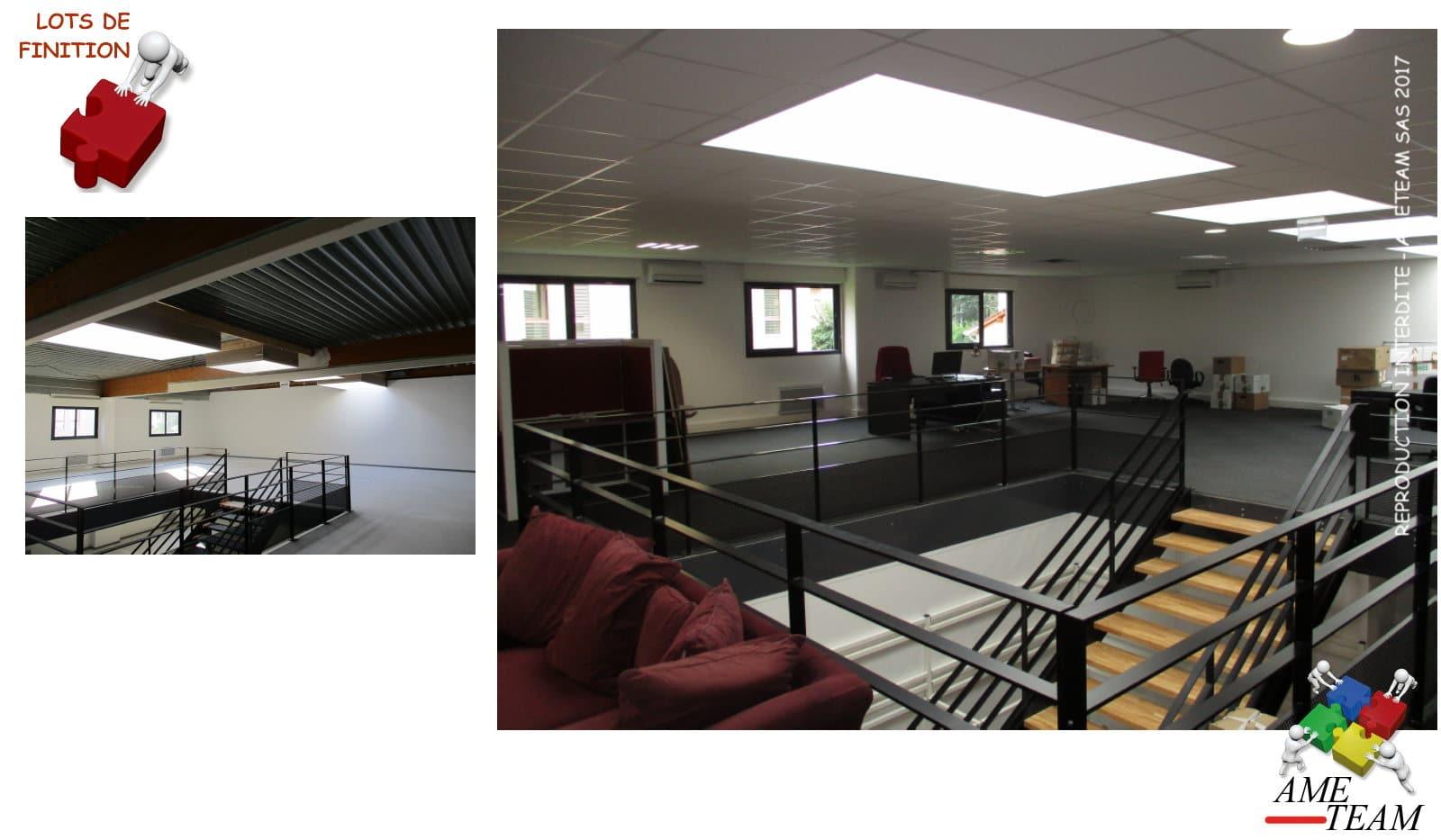 Projet serl villeurbanne faux plafond ameteam - Faux plafond industriel ...